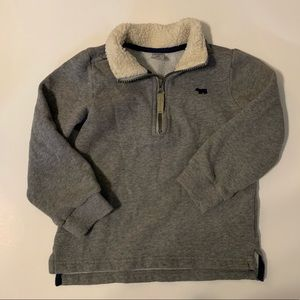 Carters Pull Over with gray color and white fleece